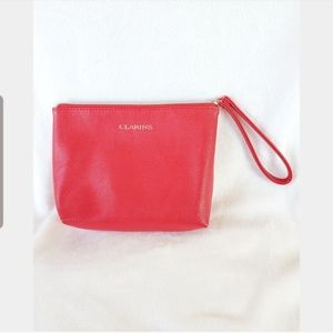👝Red Clarins Makeup Cosmetic Bag👝
